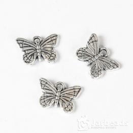 Подвеска металлическая Бабочка 1,1*1,6см (серебро)