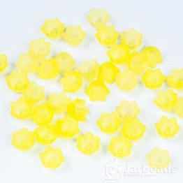 Бусина-цветок акрил 10*7мм (желтый) 10штук
