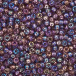Бисер PRECIOSA 10/0 (20гр) 1сорт цвет: фиолетовый прозрачный бензин арт.21010