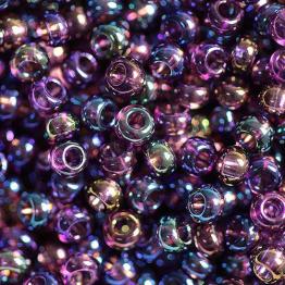 Бисер PRECIOSA 10/0 (20гр) 1сорт цвет: фиолетовый прозрачный бензин арт.21060