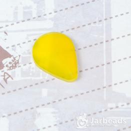 Кабошон из смолы матовый каплевидный 19*14мм (желтый)