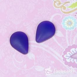 Кабошон из смолы матовый каплевидный 19*14мм (фиолетовый)