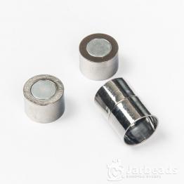 Замочек магнитный для жгута вн.d.14мм (черненое серебро)