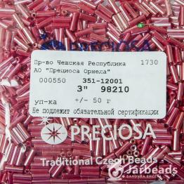 Стеклярус PRECIOSA (50гр) цвет бордовый блестящий арт.98210