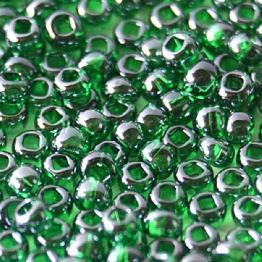 Бисер PRECIOSA 10/0 (50гр) 1сорт цвет: зеленый прозрачный блестящий арт.56060