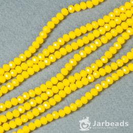 Кристаллы рондель 3*4мм желтый кукурузный 140штук арт.85