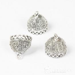 Колпачки литые Купол с петлями Звезда вн.d.19мм (серебро) 2шт.