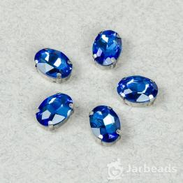Страза овальная 10*14мм (синий)