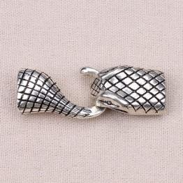 Замочек-колпачок для жгута Питон овальное отверстие d.6*10мм (серебро)