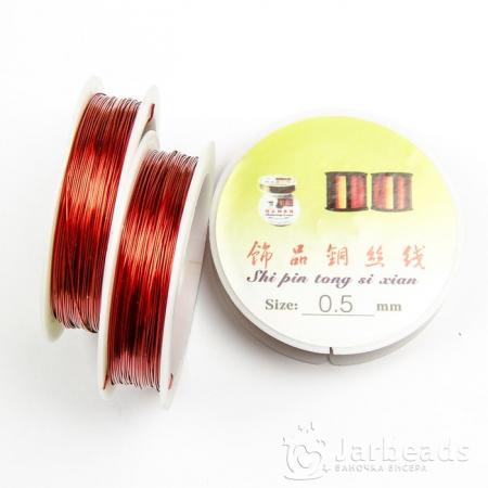 Проволока d0,5мм, длина намотки 30м (красный)