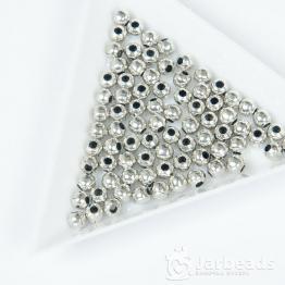 Разделители для бусин Бусины пластиковые 4мм (серебро) 10шт.