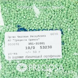 Рубка PRECIOSA 10/0 50грамм цвет: зеленый керамика 53230