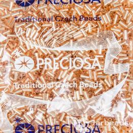 Стеклярус PRECIOSA (50гр) цвет золотисто розовый огонек арт.18288