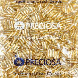 Стеклярус PRECIOSA (50гр) цвет золотой огонек арт.17020twisted