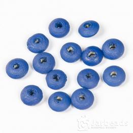 Бусины деревянные бублики 10*5мм (синий) 50шт