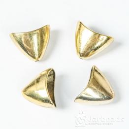Колпачки литые приплюснутые Уголок вн.d.18*10мм (золото) 2шт