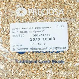 Рубка PRECIOSA 10/0 50грамм цвет: золотой металлик 18383