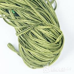 Сутажный шнур вискоза 3мм (хаки темный) 1метр арт.1130