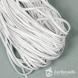 Сутажный шнур вискоза 3мм (серый) 1метр арт.1210