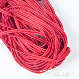 Сутажный шнур вискоза 3мм (темно красный) 1метр арт.1280