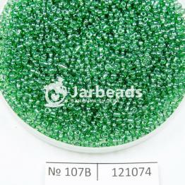 Бисер китайский 12/0 (450гр) зеленый прозрачный блестящий арт.107B