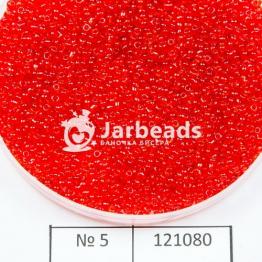 Бисер китайский 12/0 (450гр) красный прозрачный арт.5