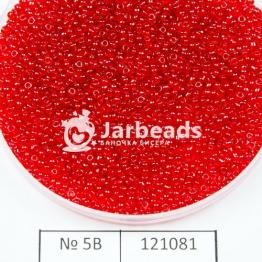 Бисер китайский 12/0 (450гр) красный темный прозрачный арт.5B