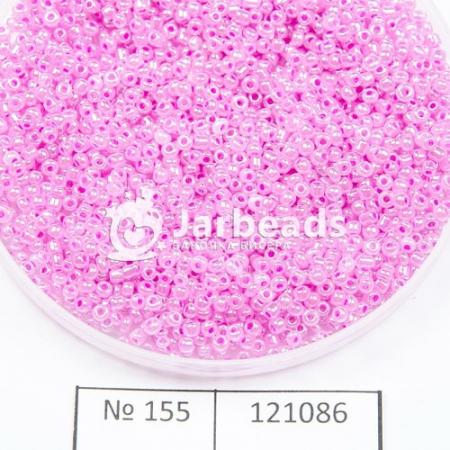 Бисер китайский 12 450гр розовый жемчужный 155