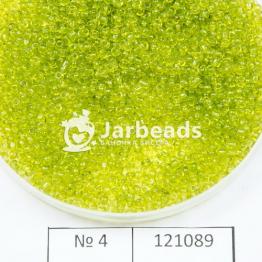 Бисер китайский 12/0 (450гр) салатовый прозрачный арт.4