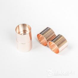 Замочек магнитный для жгута вн.d.14мм (розовое золото)
