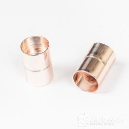 Замочек магнитный для жгута вн.d.15мм (розовое золото)