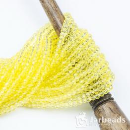 Кристаллы рондель 3*4мм желтый лимон прозрачный 140штук арт.63