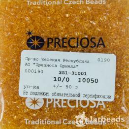 Рубка PRECIOSA 10/0 50грамм цвет: оранжевый прозрачный 10050
