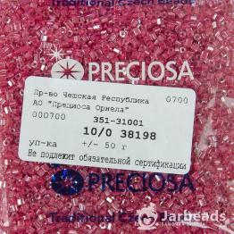 Рубка PRECIOSA 10/0 50грамм цвет: малиновый с крашеной серединкой 38198