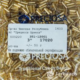 Стеклярус PRECIOSA (50гр) цвет золотой огонек арт.17020