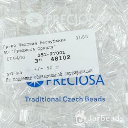 Стеклярус PRECIOSA (50гр) цвет прозрачный арт.48102