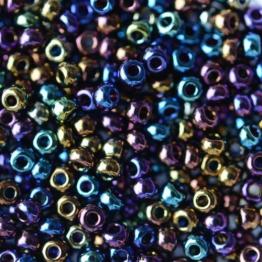 Бисер PRECIOSA 10/0 (50гр) 1сорт цвет: сине-зеленый ирис арт.59205
