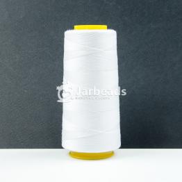 Нитки БОБИНА Полиэстер 20s/2 Micron джинсовые 912м (белый)