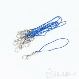 Основа для брелочка на телефон с замочком 7см (синий)
