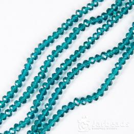 Кристаллы рондель 5*6мм морская волна 10штук