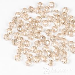 Кристаллы рондель 5*6мм светло коричневый с блеском 10штук