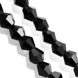 Кристаллы биконус 4*4мм черный 118штук арт.7654