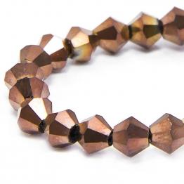 Кристаллы биконус 4*4мм медь 115штук арт.7086