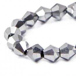 Кристаллы биконус 4*4мм серебро 115штук арт.7087