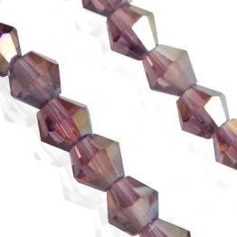 Кристаллы биконус 4*4мм черный прозрачный 118штук арт.7098