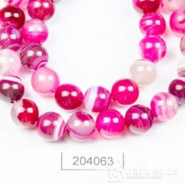 Бусина Агат 10мм (розовый)