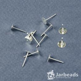 Швензы-гвоздики Пусеты 6*12мм (серебро) 10шт