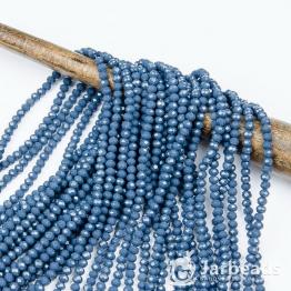 Кристаллы рондель 3*4мм серо-синий 140штук арт.54