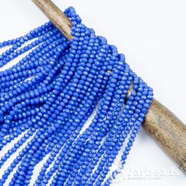 Бусины-кристаллы рондель 2*3мм синий керамика 140штук арт.56