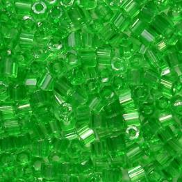 Рубка PRECIOSA 10/0 50грамм цвет: зеленый прозрачный 50100